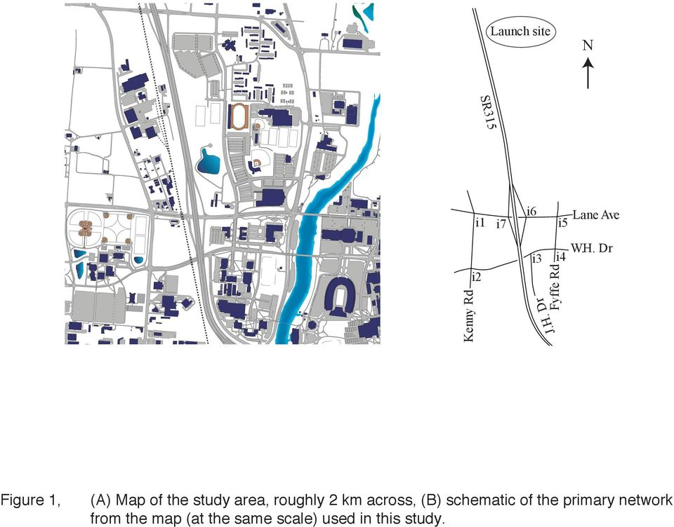 Dr i4 Fyffe Rd Figure 1, (A) Map of the study area,