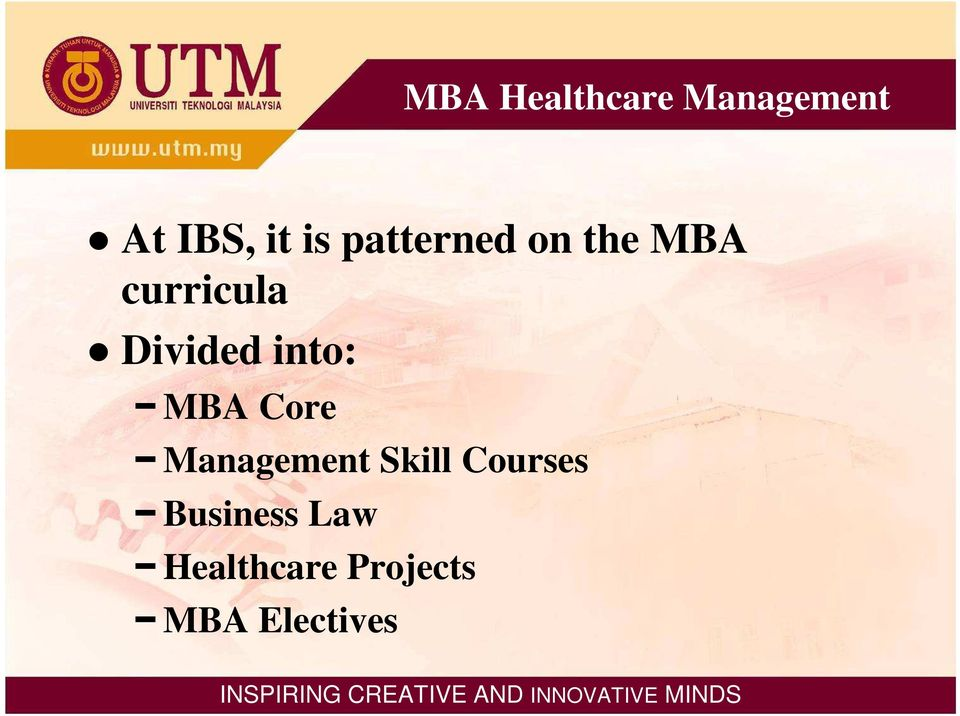 into: MBA Core Management Skill Courses