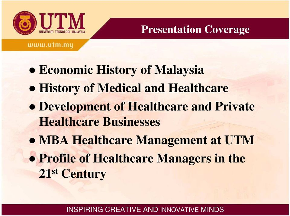 Healthcare and Private Healthcare Businesses MBA