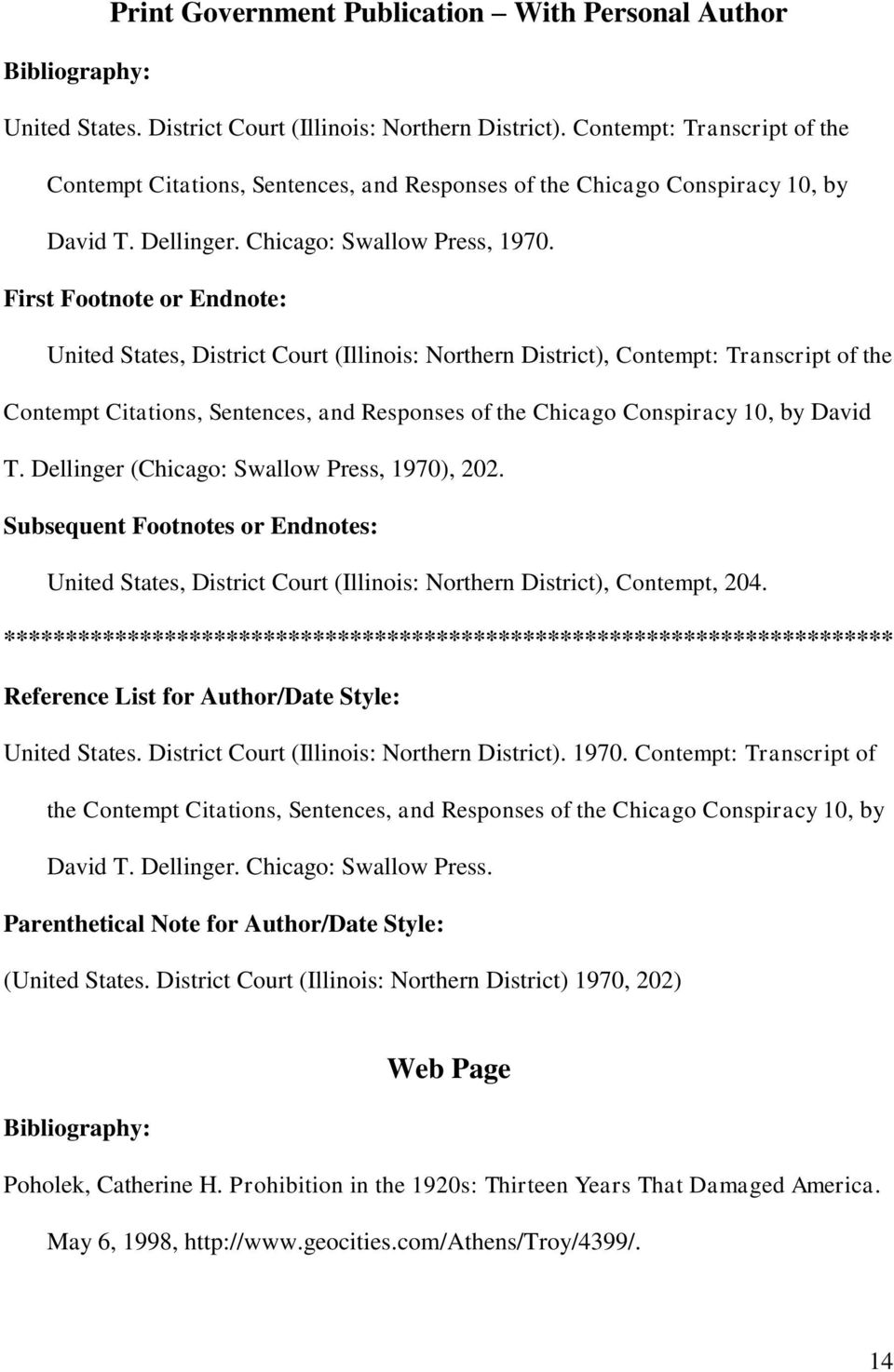 United States, District Court (Illinois: Northern District), Contempt: Transcript of the Contempt Citations, Sentences, and Responses of the Chicago Conspiracy 10, by David T.