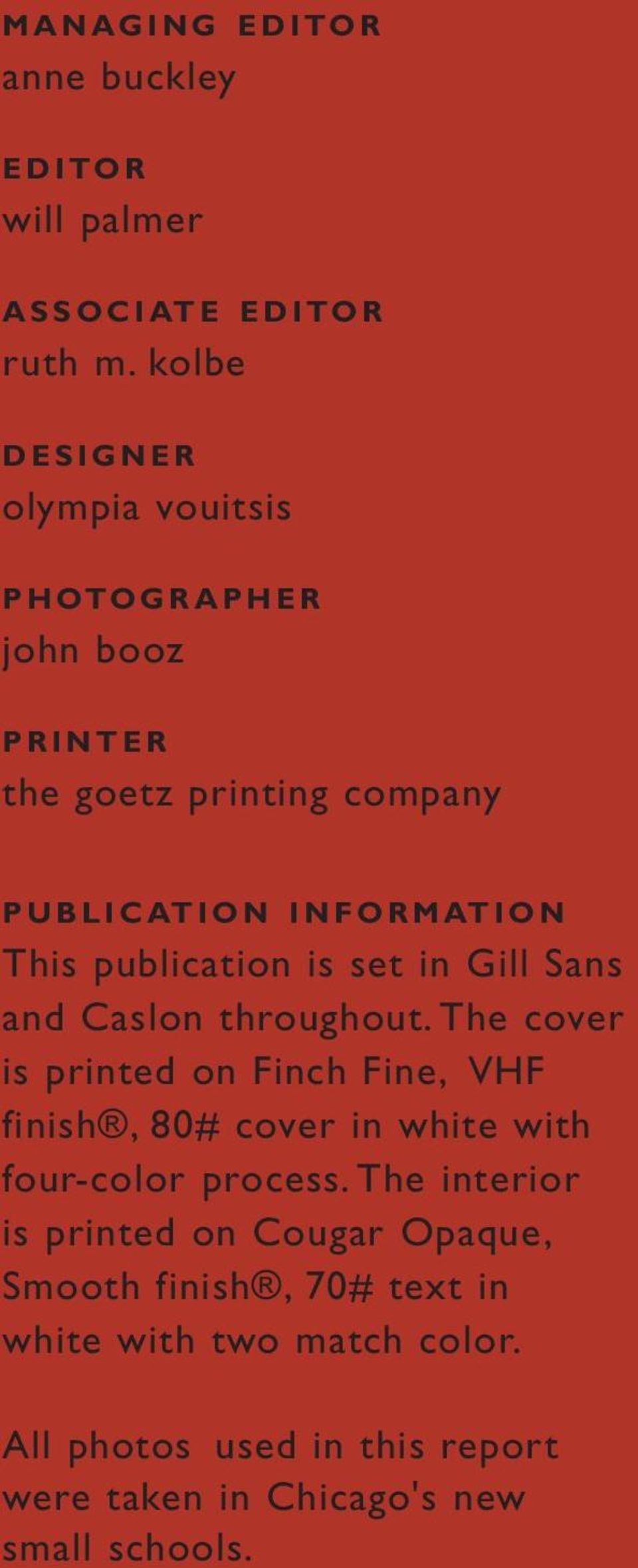 publication is set in Gill Sans and Caslon throughout.