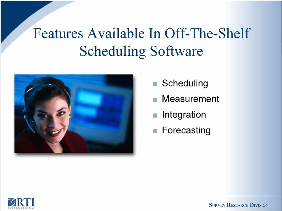 Software Scheduling