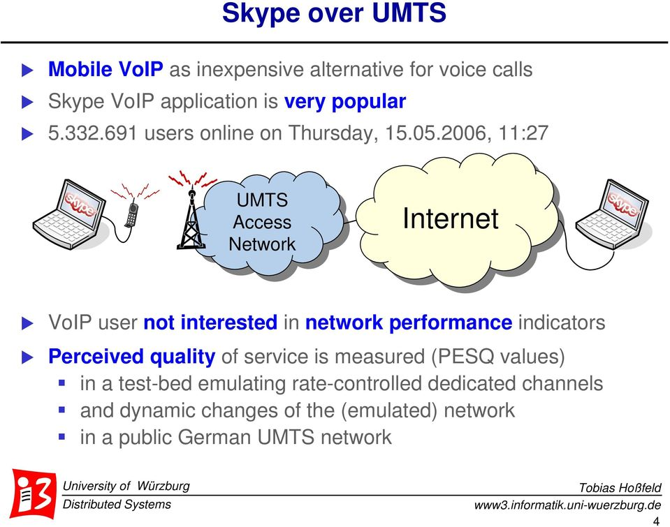 2006, 11:27 UMTS UMTS Access Access Network Internet VoIP user not interested in network permance indicators
