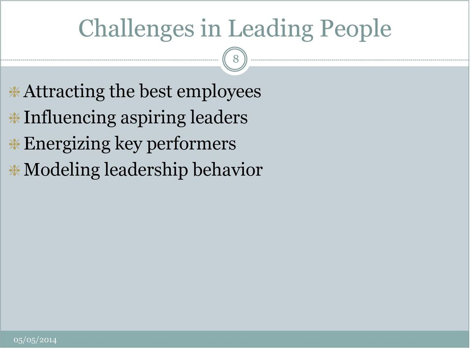 Influencing aspiring leaders