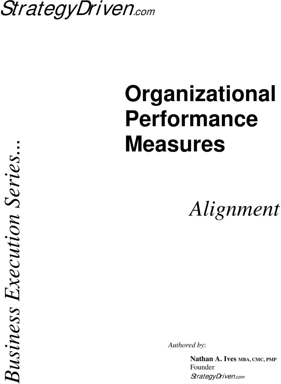 .. Organizational Performance Measures