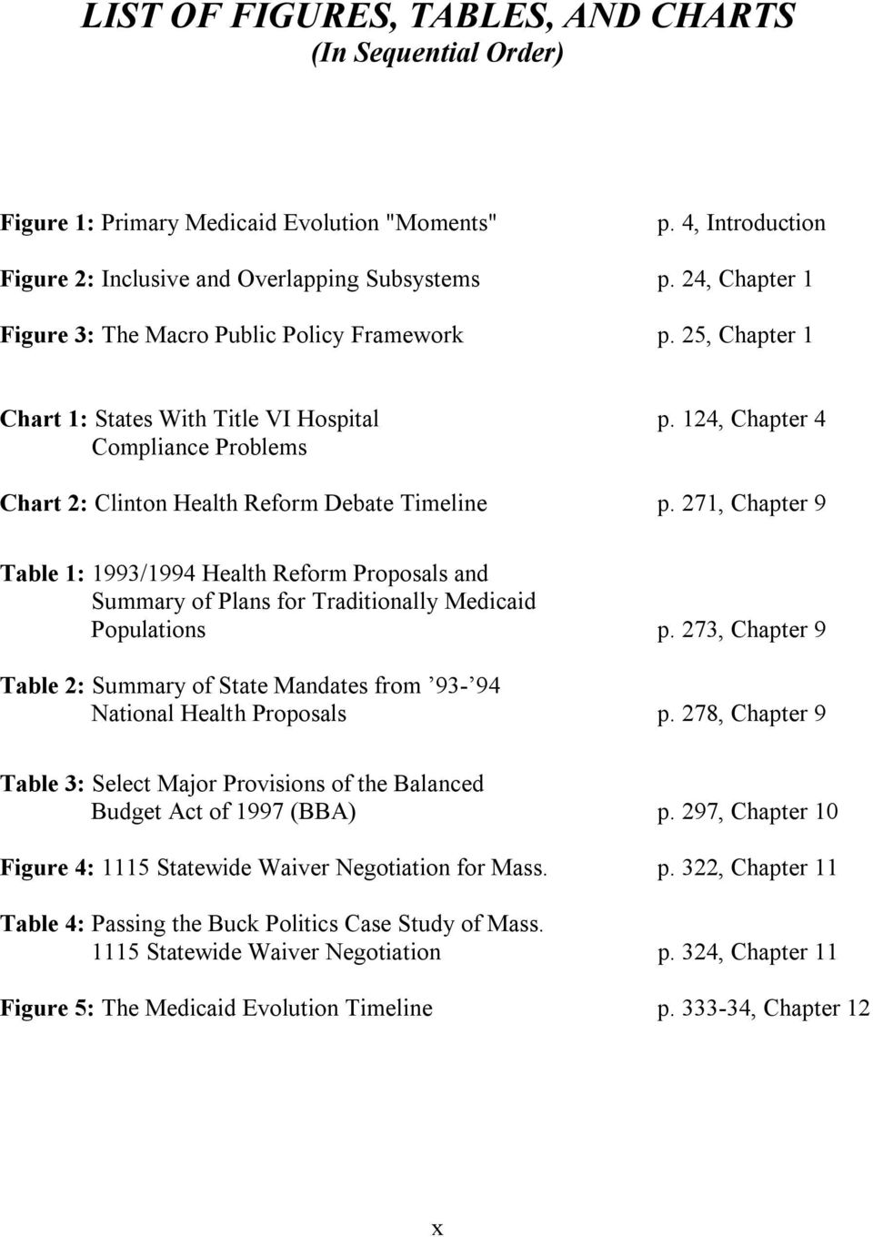124, Chapter 4 Compliance Problems Chart 2: Clinton Health Reform Debate Timeline p.