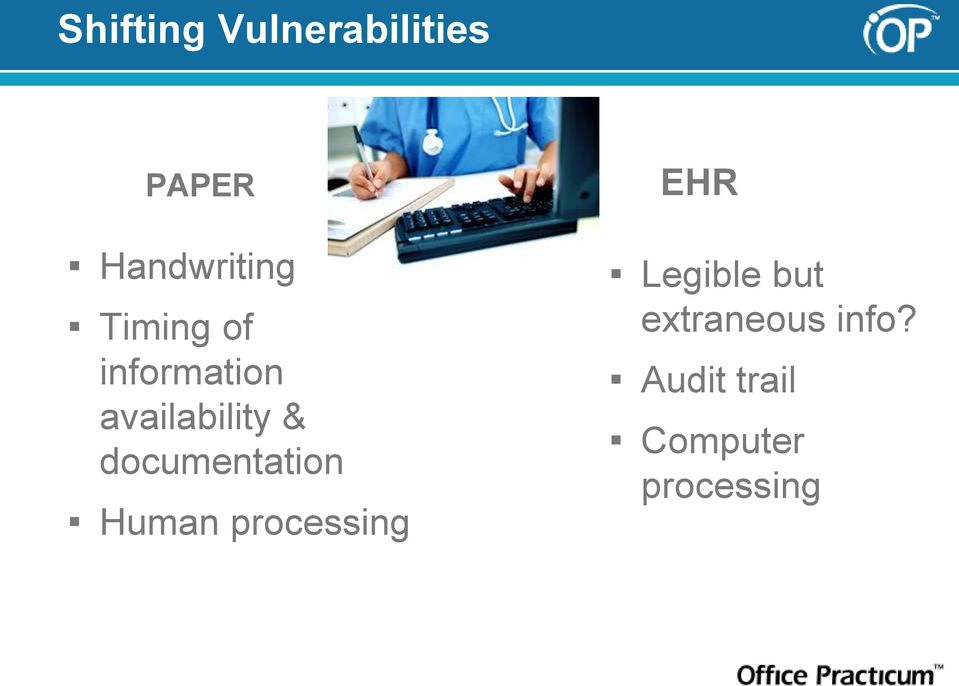 documentation Human processing EHR Legible