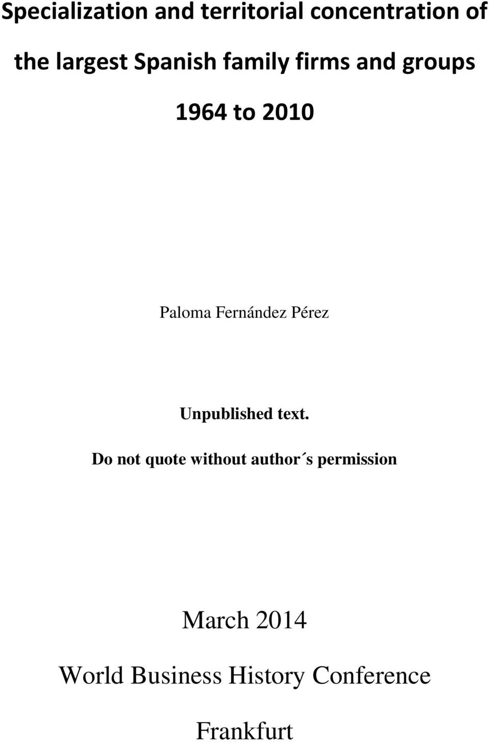 Fernández Pérez Unpublished text.