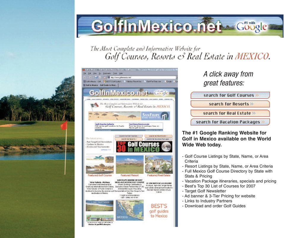 Course Directory by State with Stats & Pricing - Vacation Package itineraries, specials and pricing - Best s Top 30 List of