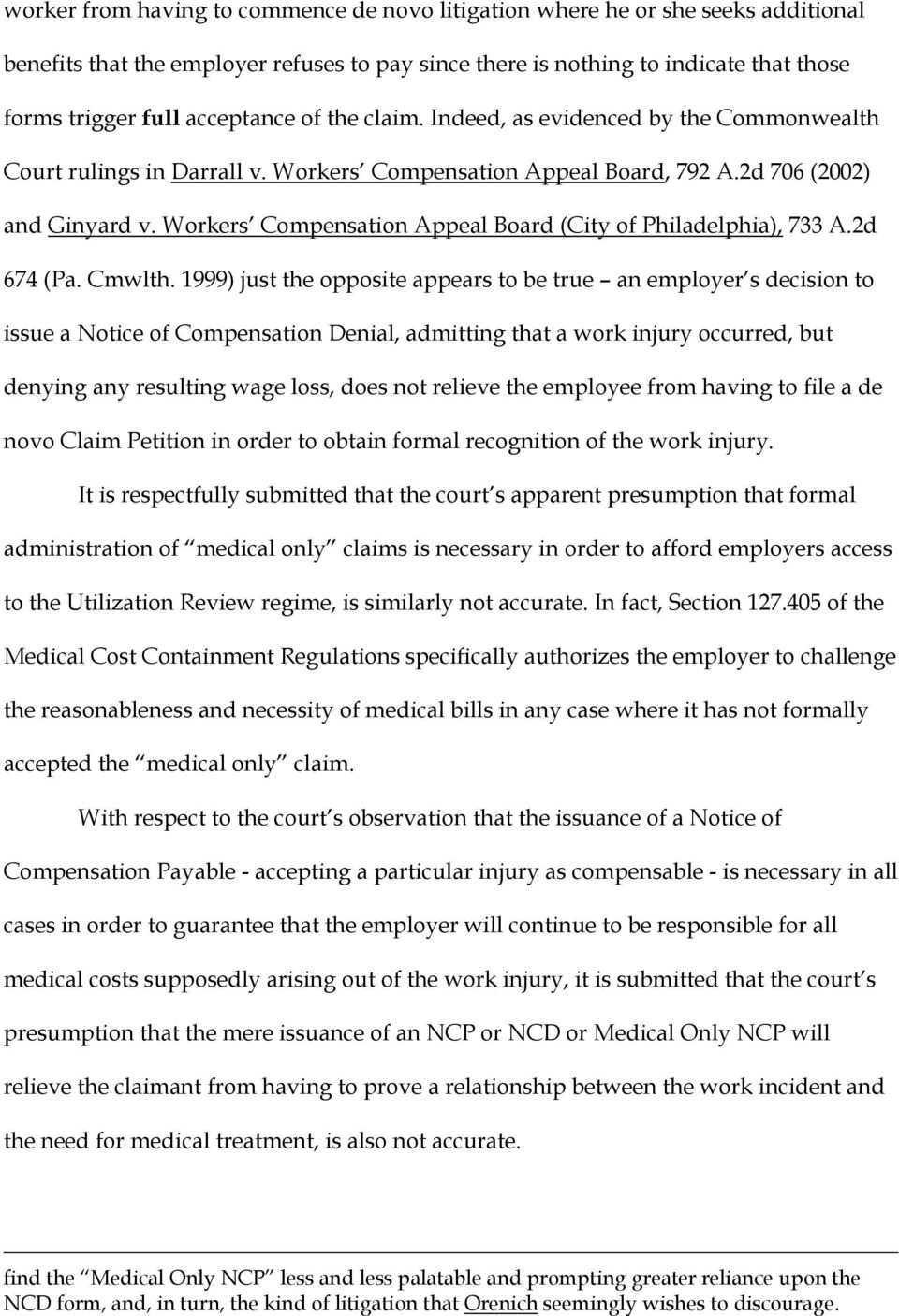 Workers Compensation Appeal Board (City of Philadelphia), 733 A.2d 674 (Pa. Cmwlth.