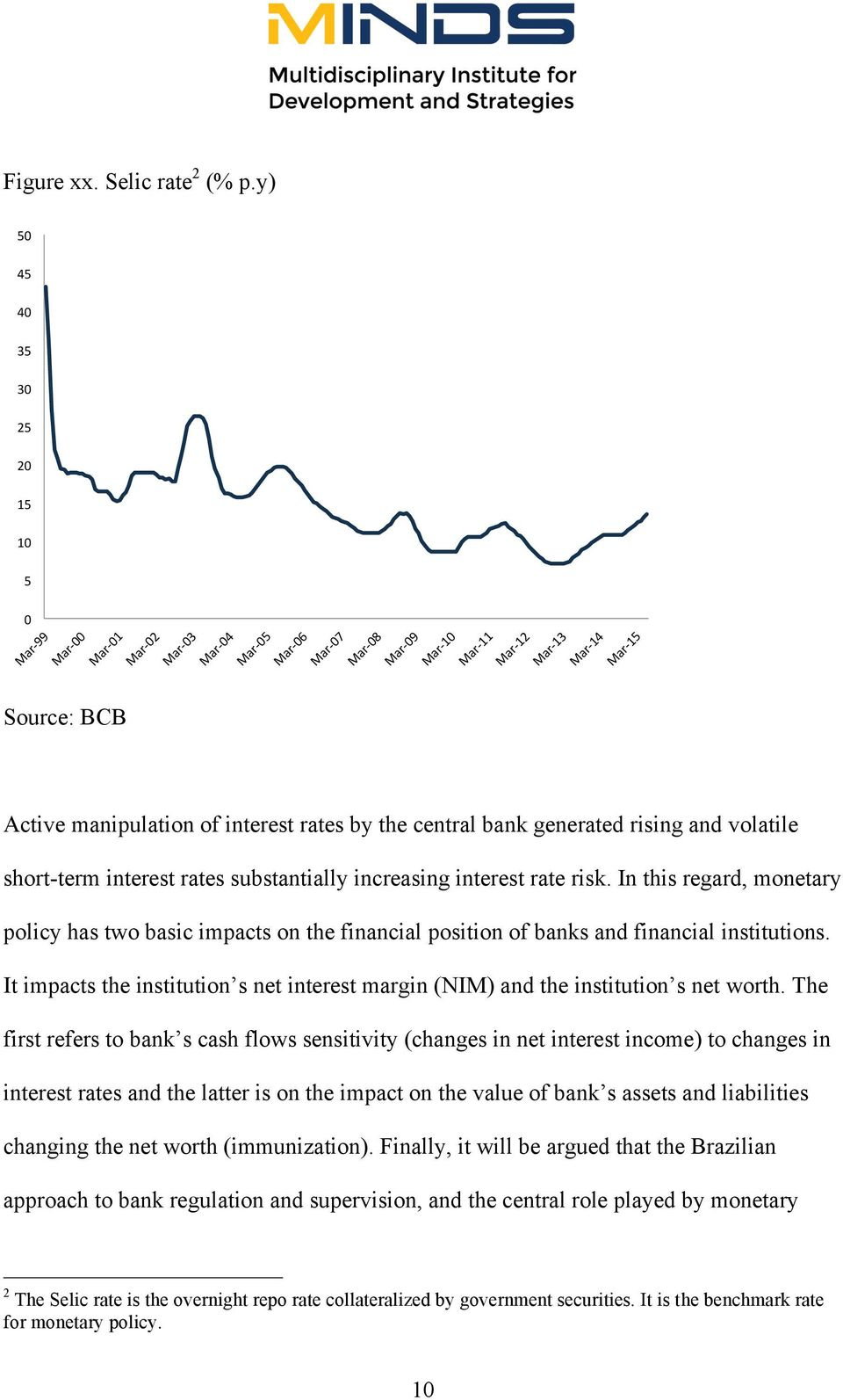"ar +1 3"" M ar +1 4"" M ar +1 5"" 0"" Source: BCB Active manipulation of interest rates by the central bank generated rising and volatile short-term interest rates substantially increasing interest rate"