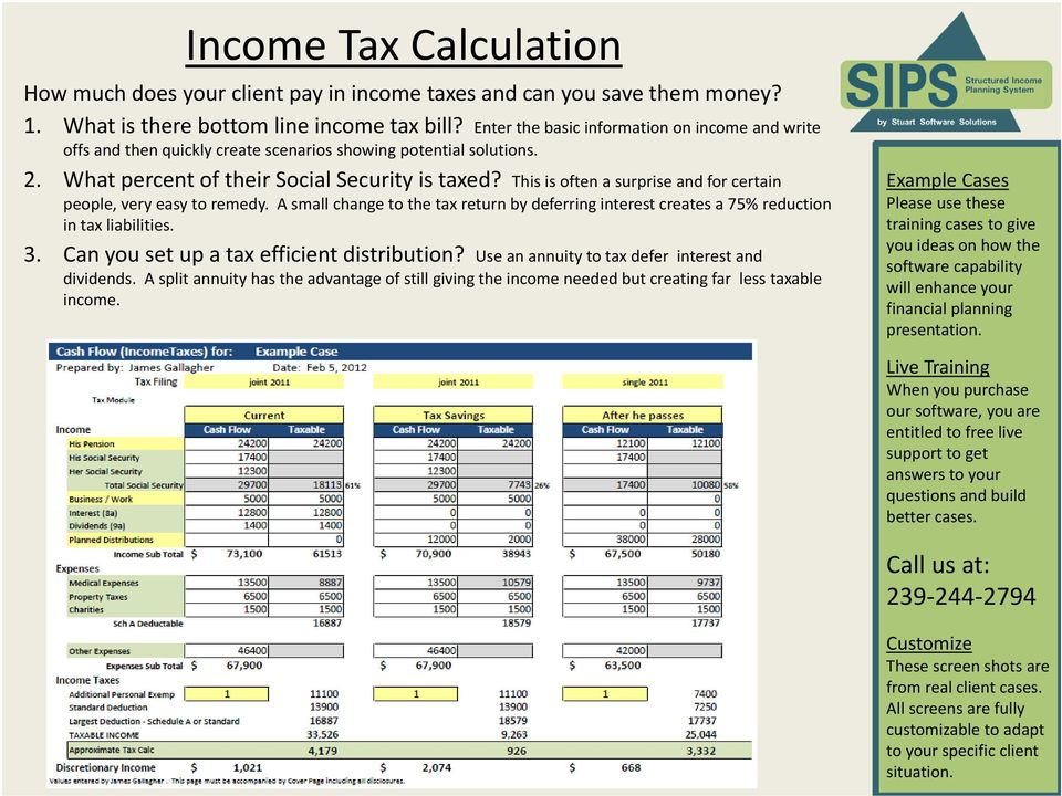 This is often a surprise and for certain people, very easy to remedy. A small change to the tax return by deferring interest creates a 75% reduction in tax liabilities. 3.