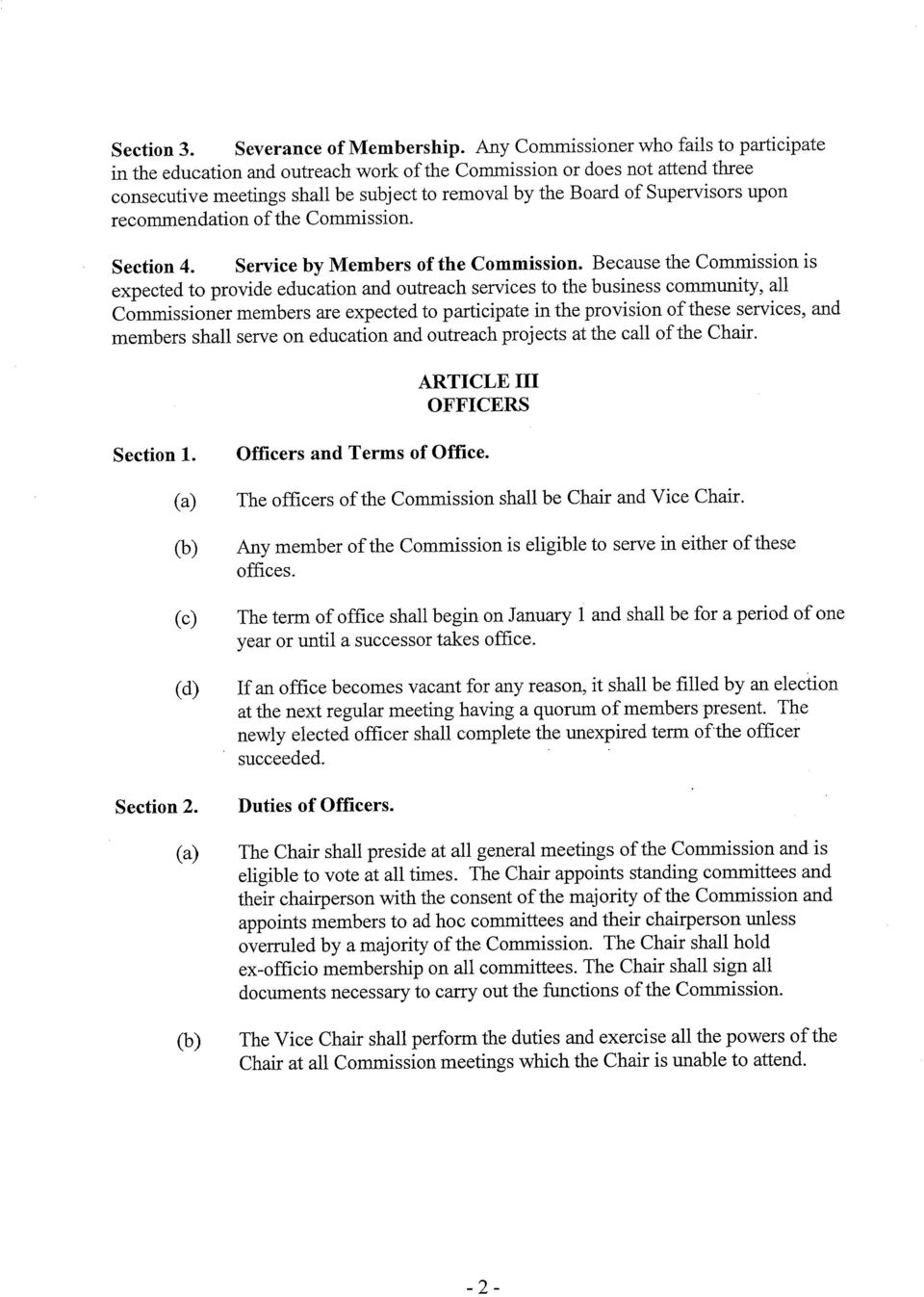 upon recommendation ofthe Commission. Section 4. Service by Members of the Commission.