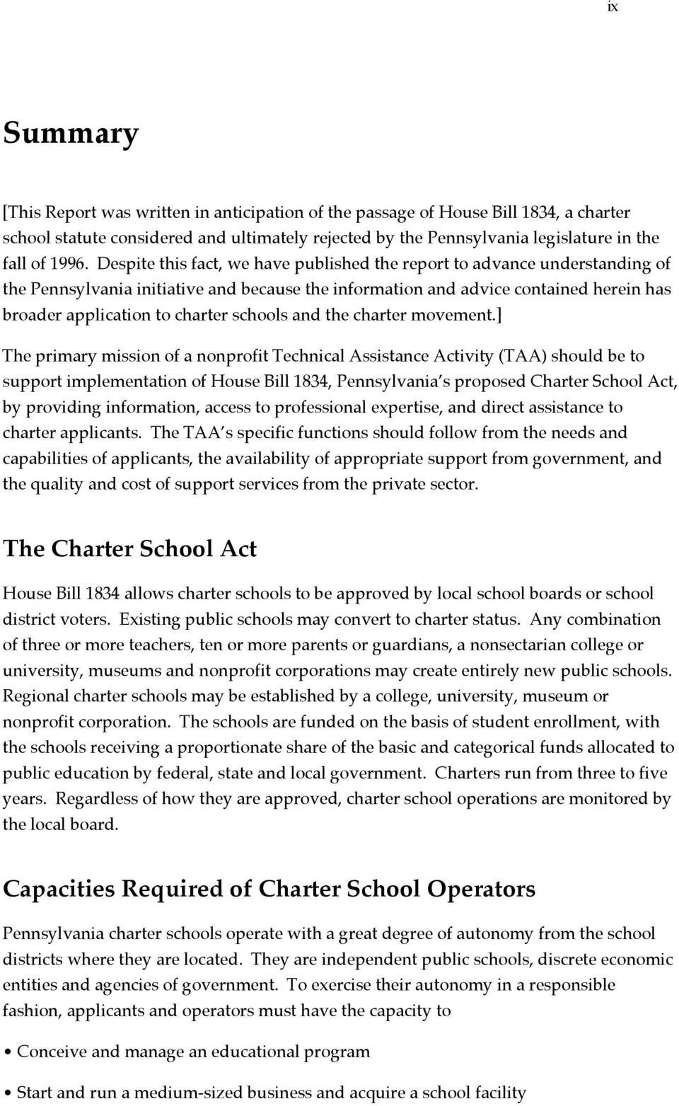 schools and the charter movement.