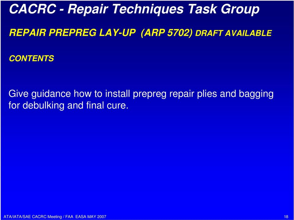 guidance how to install prepreg