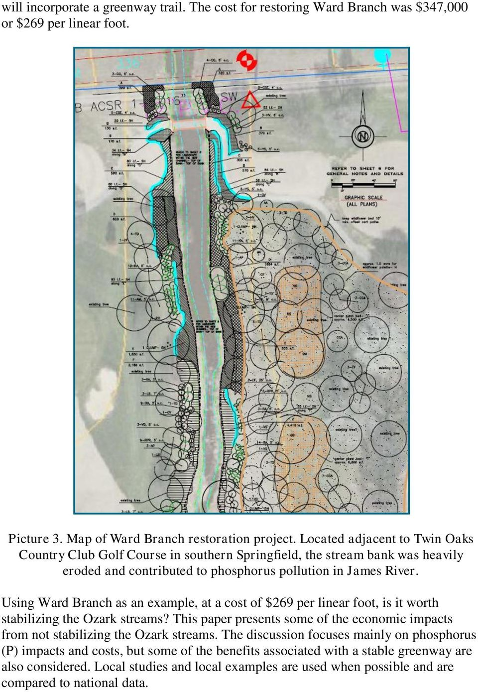 Using Ward Branch as an example, at a cost of $269 per linear foot, is it worth stabilizing the Ozark streams?
