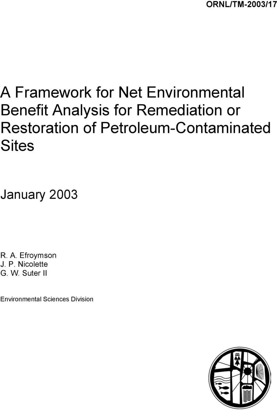 Petroleum-Contaminated Sites January 2003 R. A.