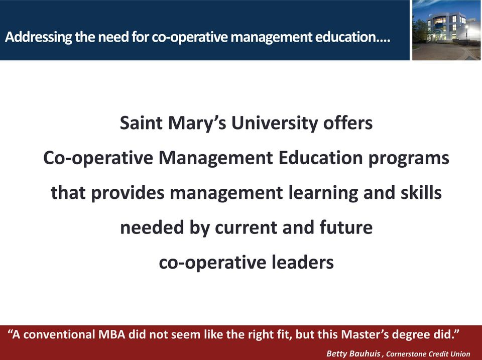 management learning and skills needed by current and future co-operative leaders A