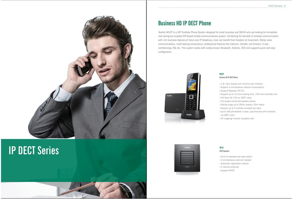 Combining the benefits of wireless communication with rich business features of Voice over IP telephony, User can benefit from freedom of movement, lifelike voice communications, multi-tasking