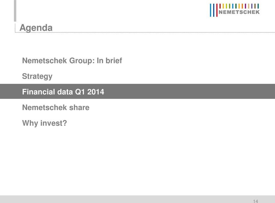 Financial data Q1 2014