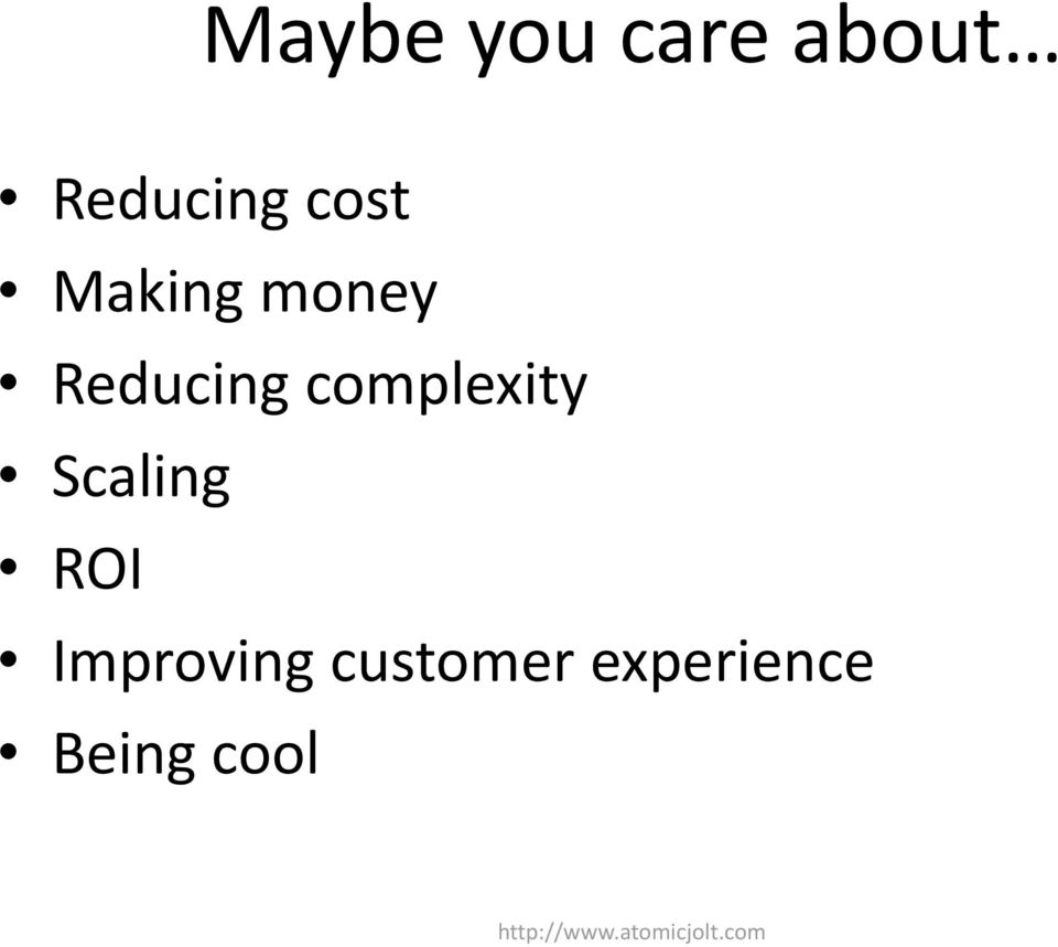 Scaling ROI Improving customer
