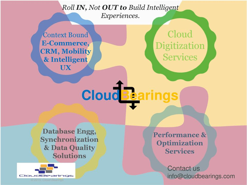 Digitization Services CloudBearings Database Engg, Synchronization &
