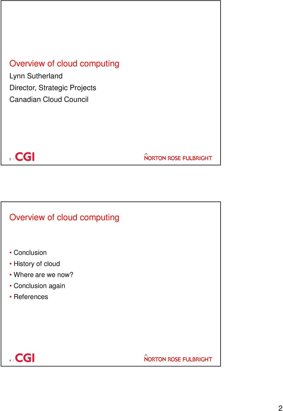 Council 3 Overview of cloud computing Conclusion