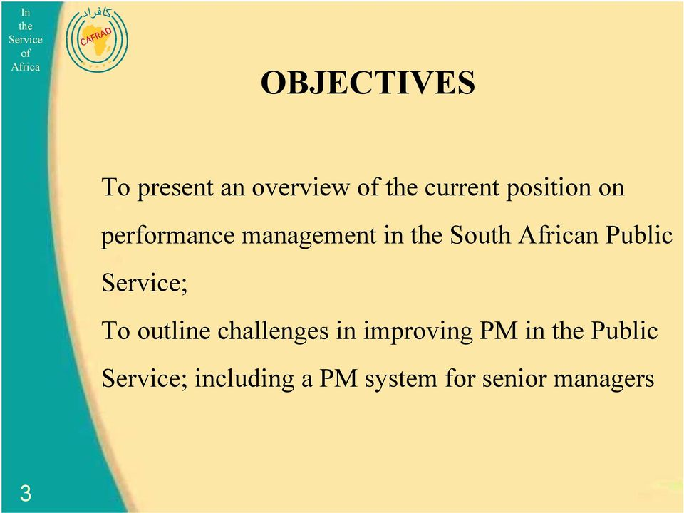 Public ; To outline challenges in improving PM