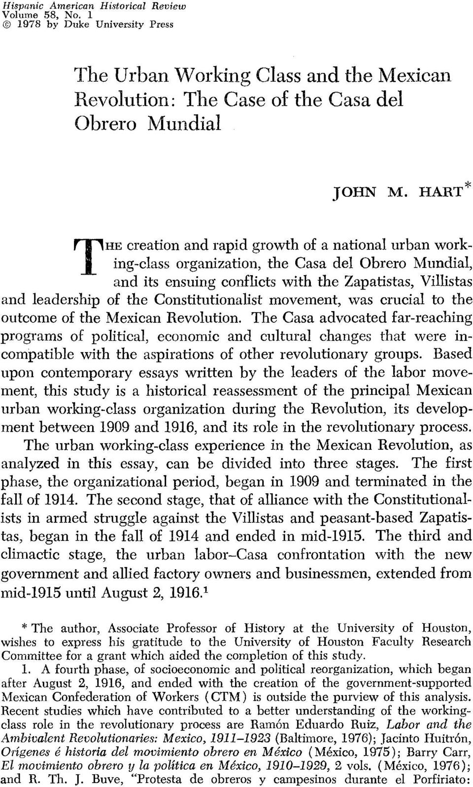Constitutionalist movement, was crucial to the outcome of the Mexican Revolution.
