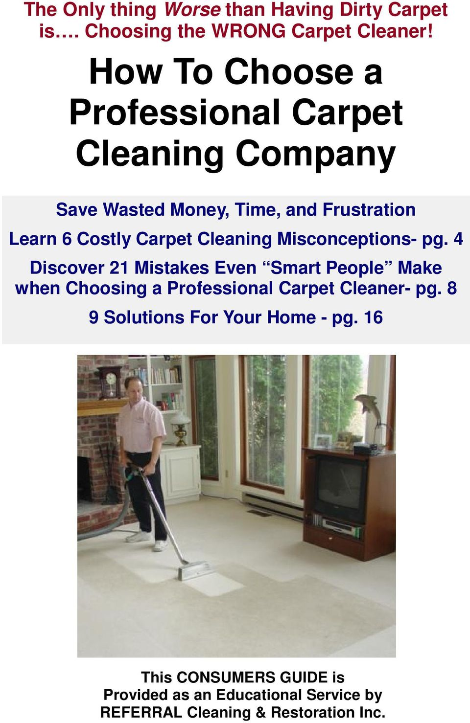 Carpet Cleaning Misconceptions- pg.