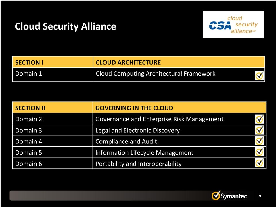 GOVERNING IN THE CLOUD Governance and Enterprise Risk Management Legal and