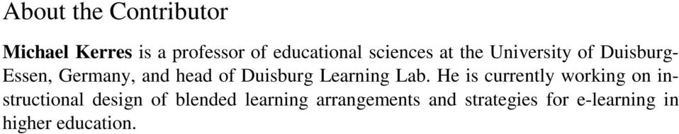 Duisburg Learning Lab.