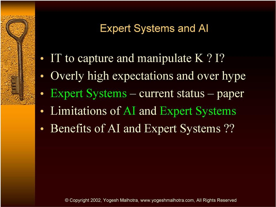 Expert Systems current status paper Limitations of