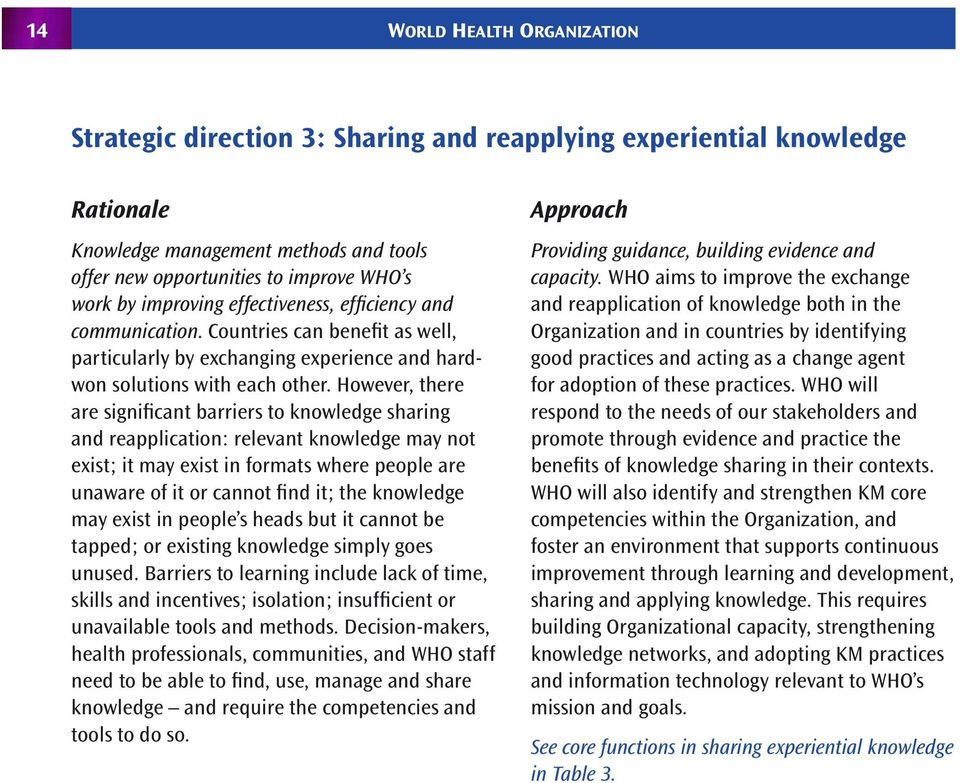However, there are significant barriers to knowledge sharing and reapplication: relevant knowledge may not exist; it may exist in formats where people are unaware of it or cannot find it; the