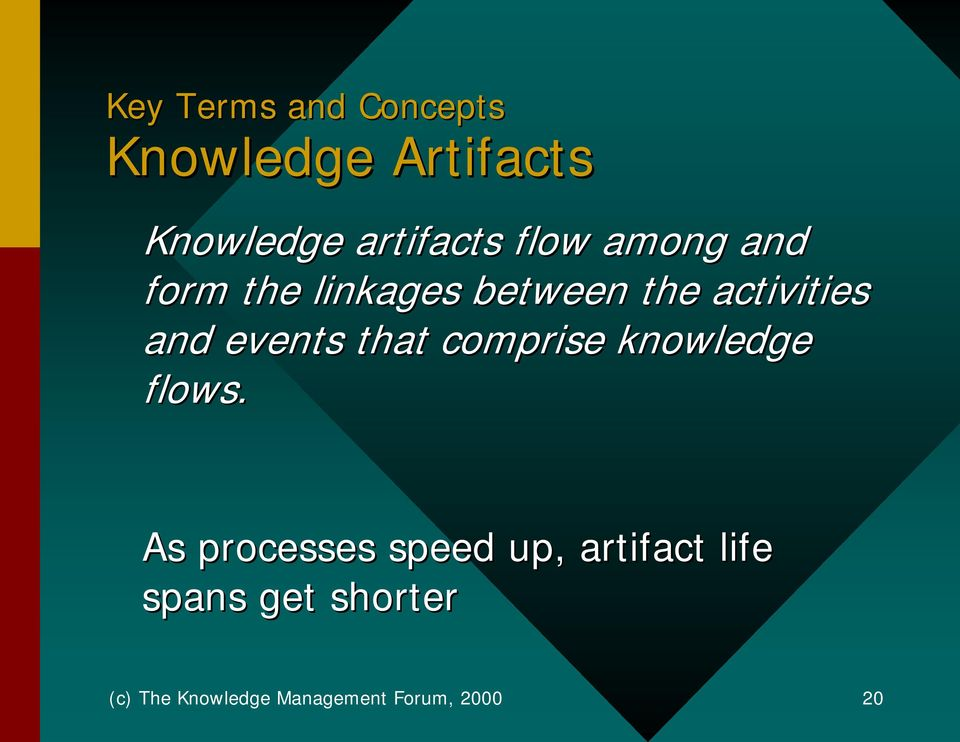 events that comprise knowledge flows.