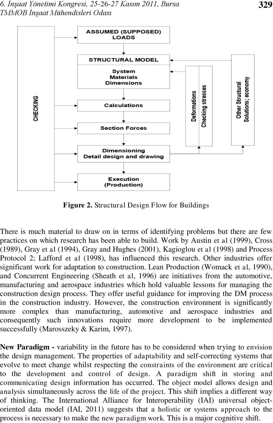 Structural Design Flow for Buildings There is much material to draw on in terms of identifying problems but there are few practices on which research has been able to build.