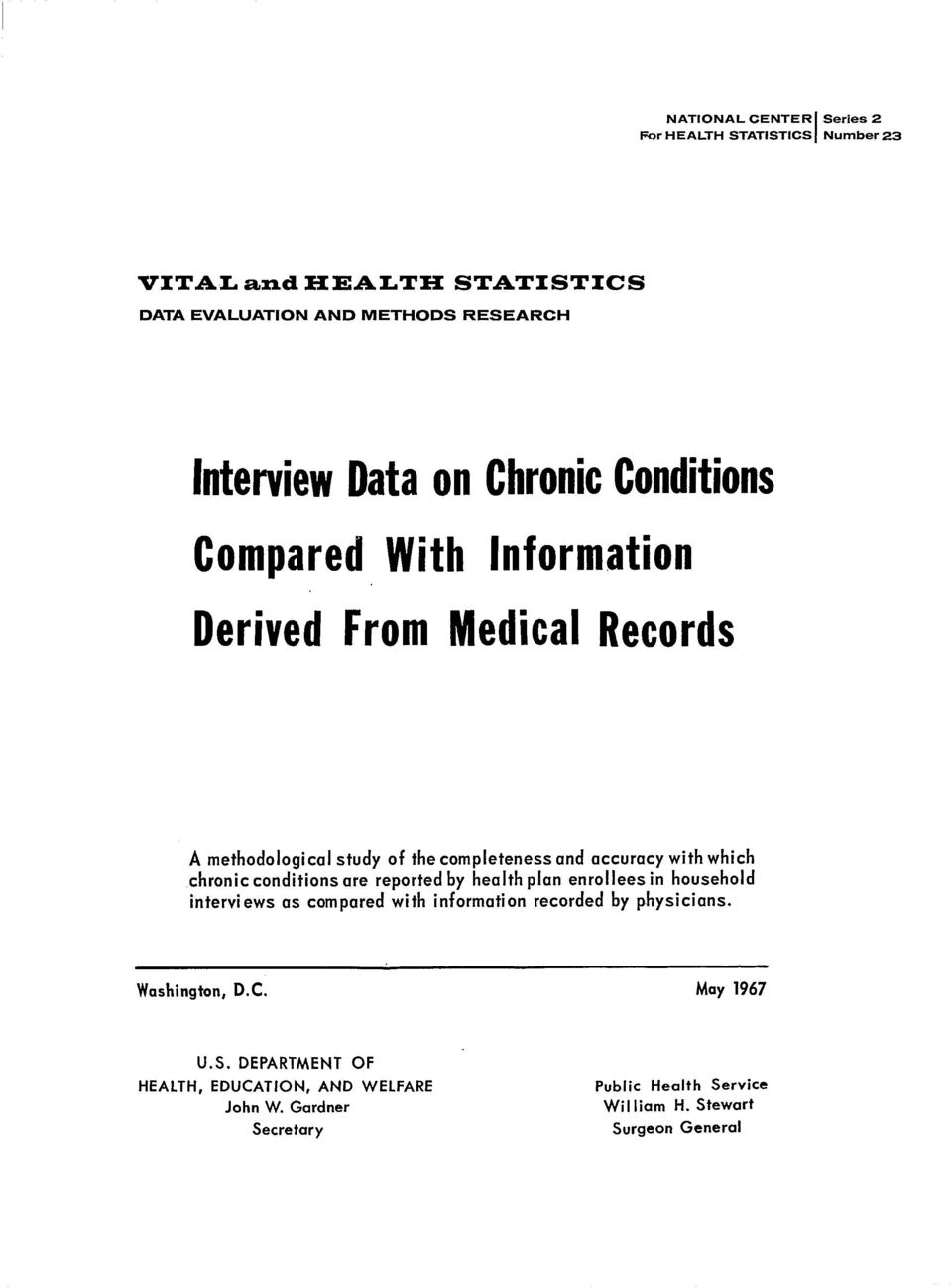 ChronicConditions Compared With nformation Derived From Medical Records A methodological study of the completeness and accuracy with which chronic
