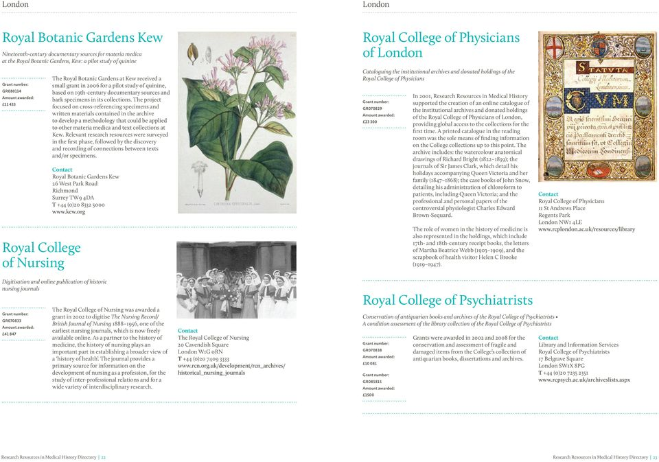 The project focused on cross-referencing specimens and written materials contained in the archive to develop a methodology that could be applied to other materia medica and text collections at Kew.