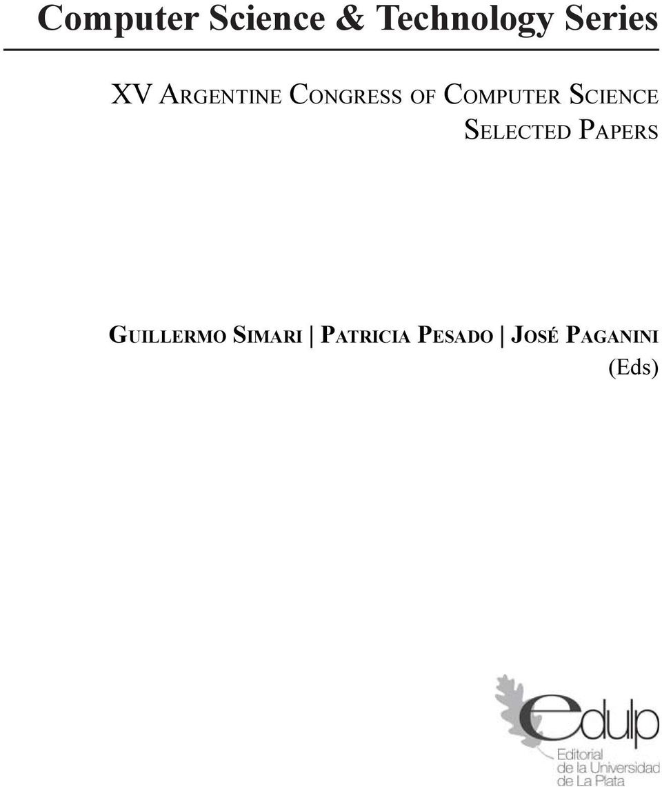 SCIENCE SELECTED PAPERS GUILLERMO