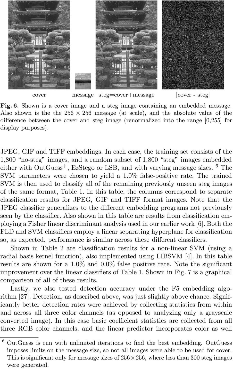JPEG, GIF and TIFF embeddings.