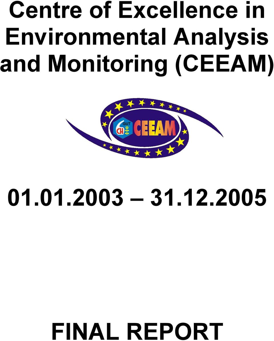 and Monitoring (CEEAM) 01.