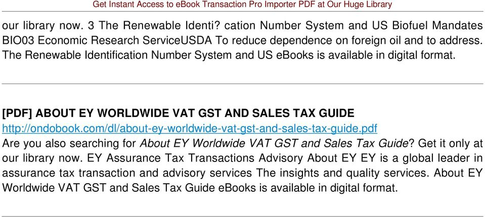 com/dl/about-ey-worldwide-vat-gst-and-sales-tax-guide.pdf Are you also searching for About EY Worldwide VAT GST and Sales Tax Guide? Get it only at our library now.