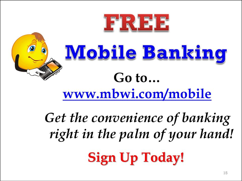 convenience of banking