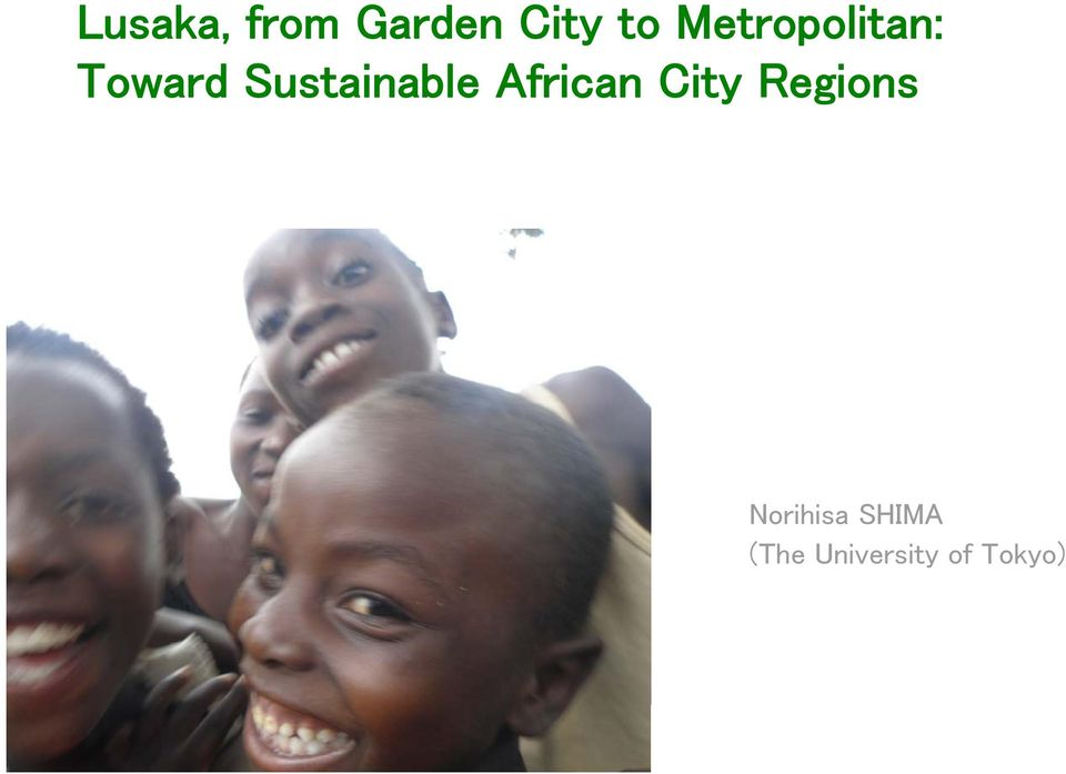 Sustainable African City