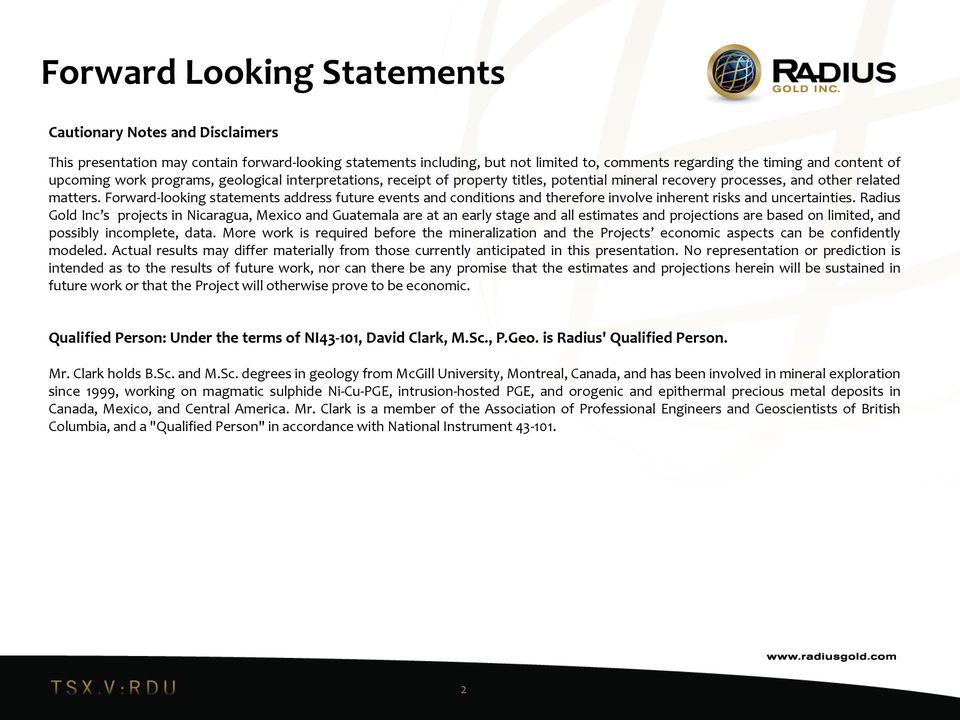 Forward-looking statements address future events and conditions and therefore involve inherent risks and uncertainties.