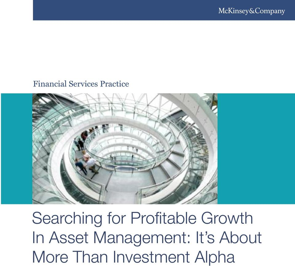 Growth In Asset Management: