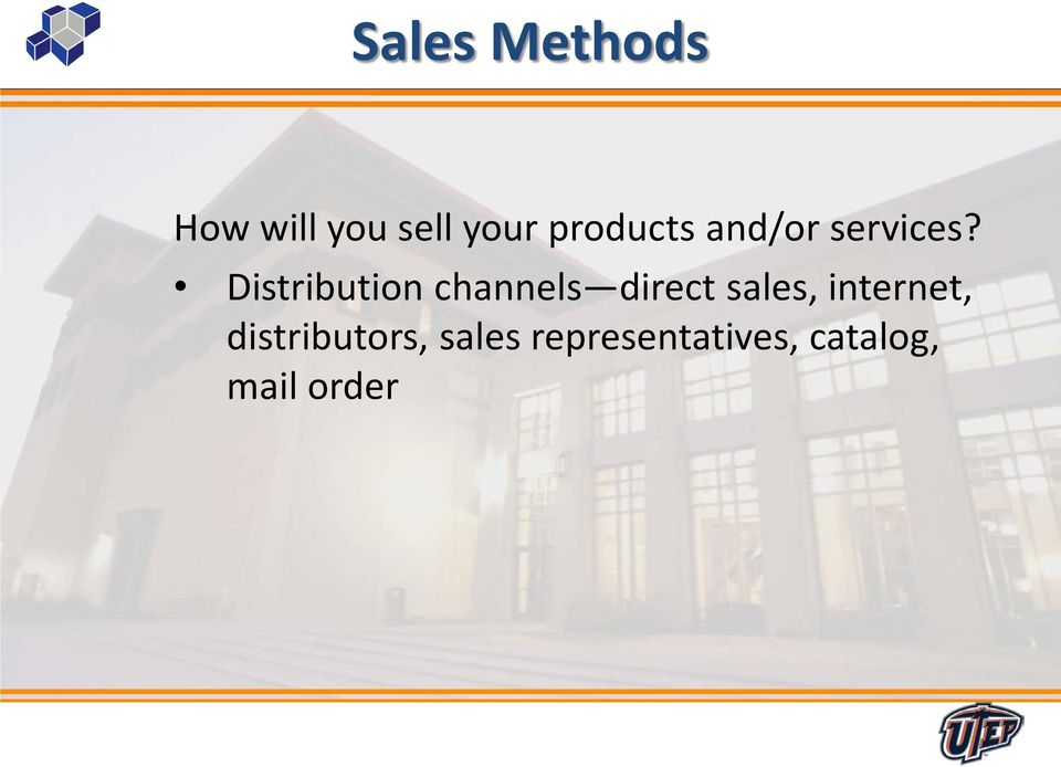 Distribution channels direct sales,