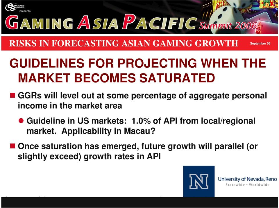 markets: 1.0% of API from local/regional market. Applicability in Macau?