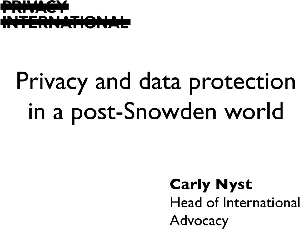 post-snowden world