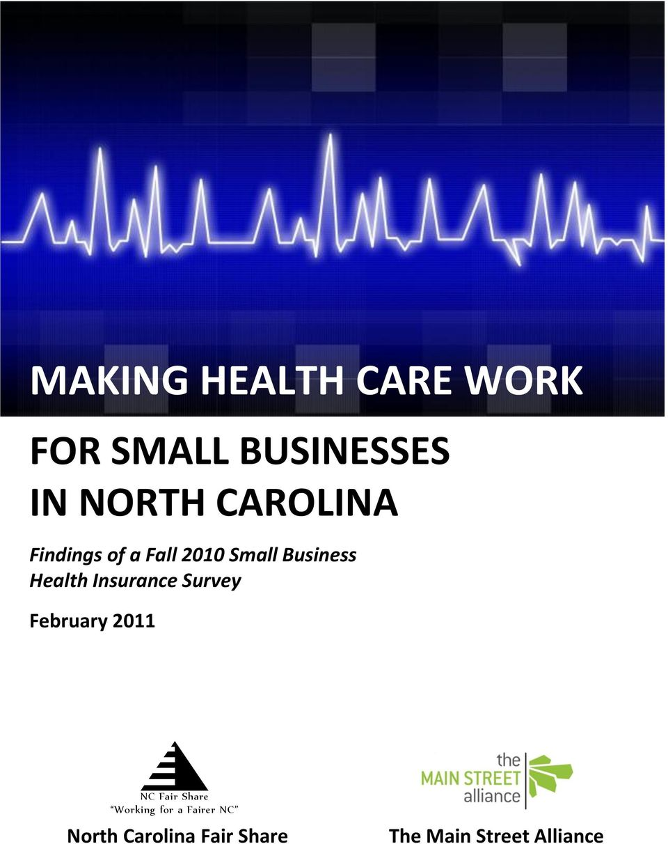 Insurance Survey February 2011 NC Fair Share Working for